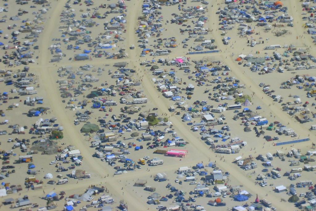 פסטיבל ברנינג מן, נבדה. צילום: Sterling Ely אתר flickr.com