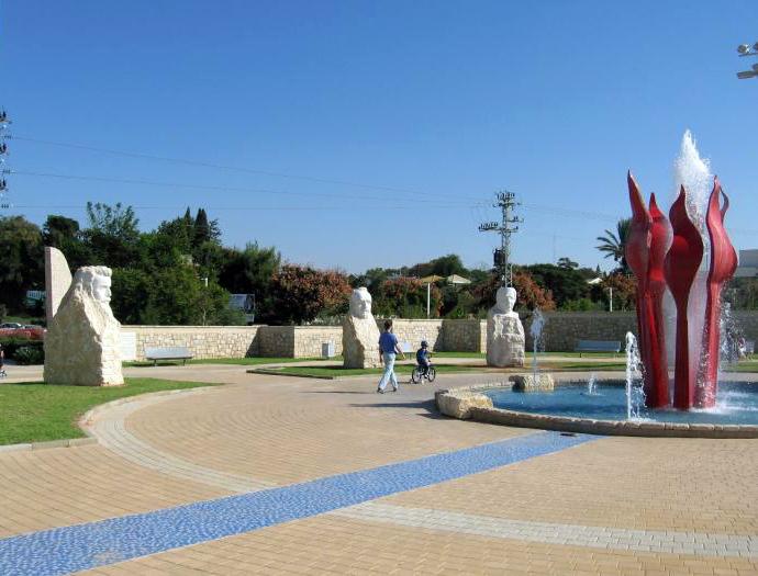 גן המנהיגים, ראשון לציון, בתכנון חיים כהנוביץ (צילום: אילנה שקולניק, PikiWiki)