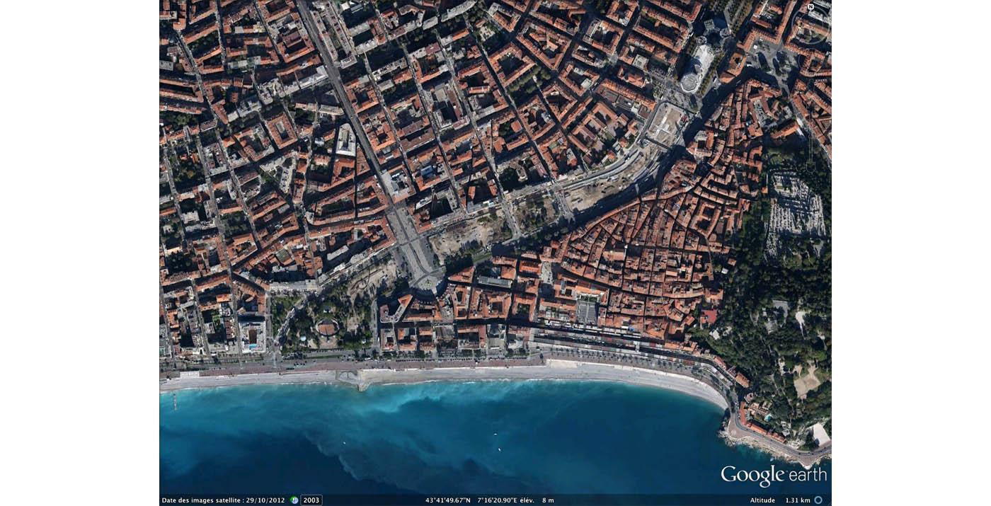 המצב בשטח לפני תחילת העבודות (צילום: מתוך Google Earth)
