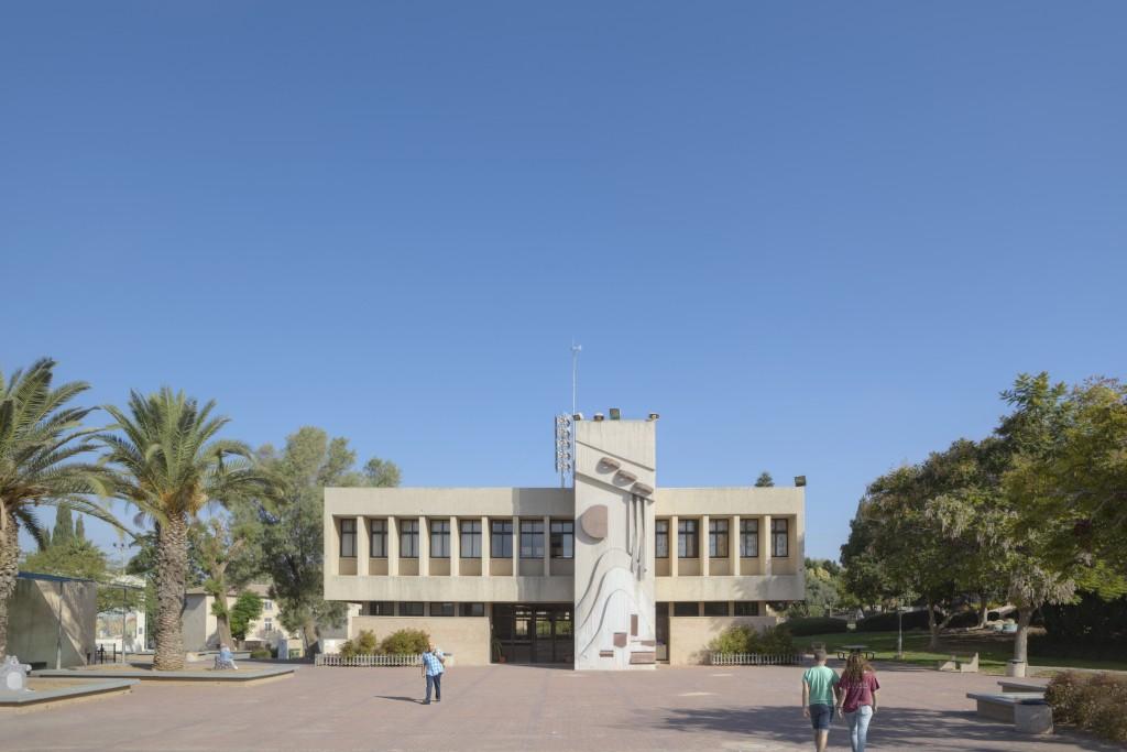 ספריה בית ספר צפית בקיבוץ כפר מנחם, בתכנון מנחם באר (צילום: עמרי טלמור (C))