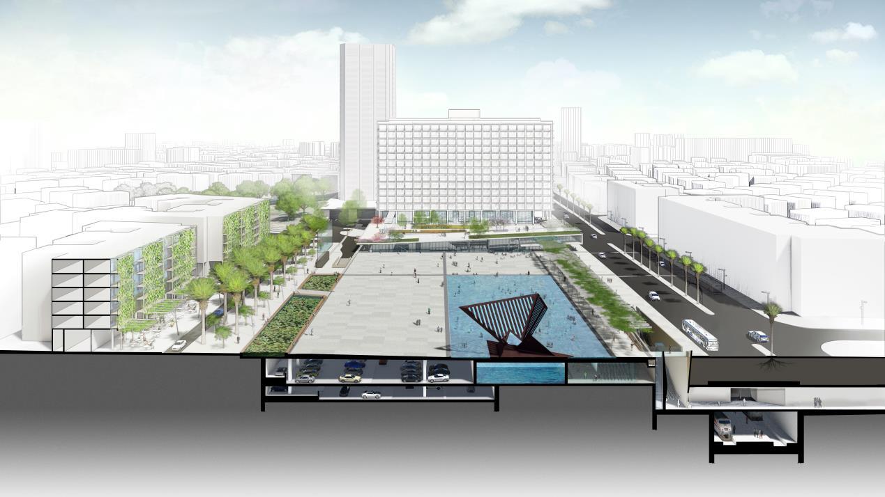 ההצעה של באה אדריכלים (הדמיה: באדיבות המשרד)