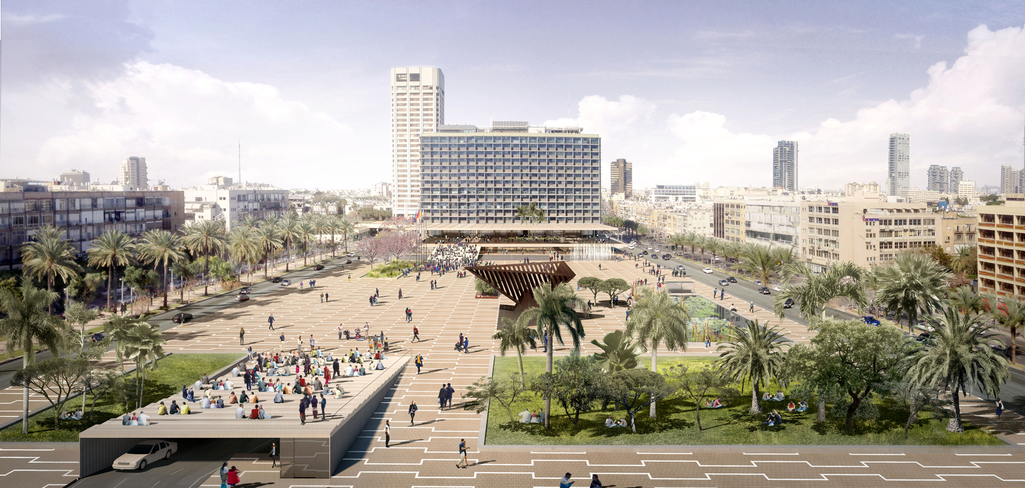 ההצעה של אפרת-קובלסקי אדריכלים (הדמיה: באדיבות המשרד)