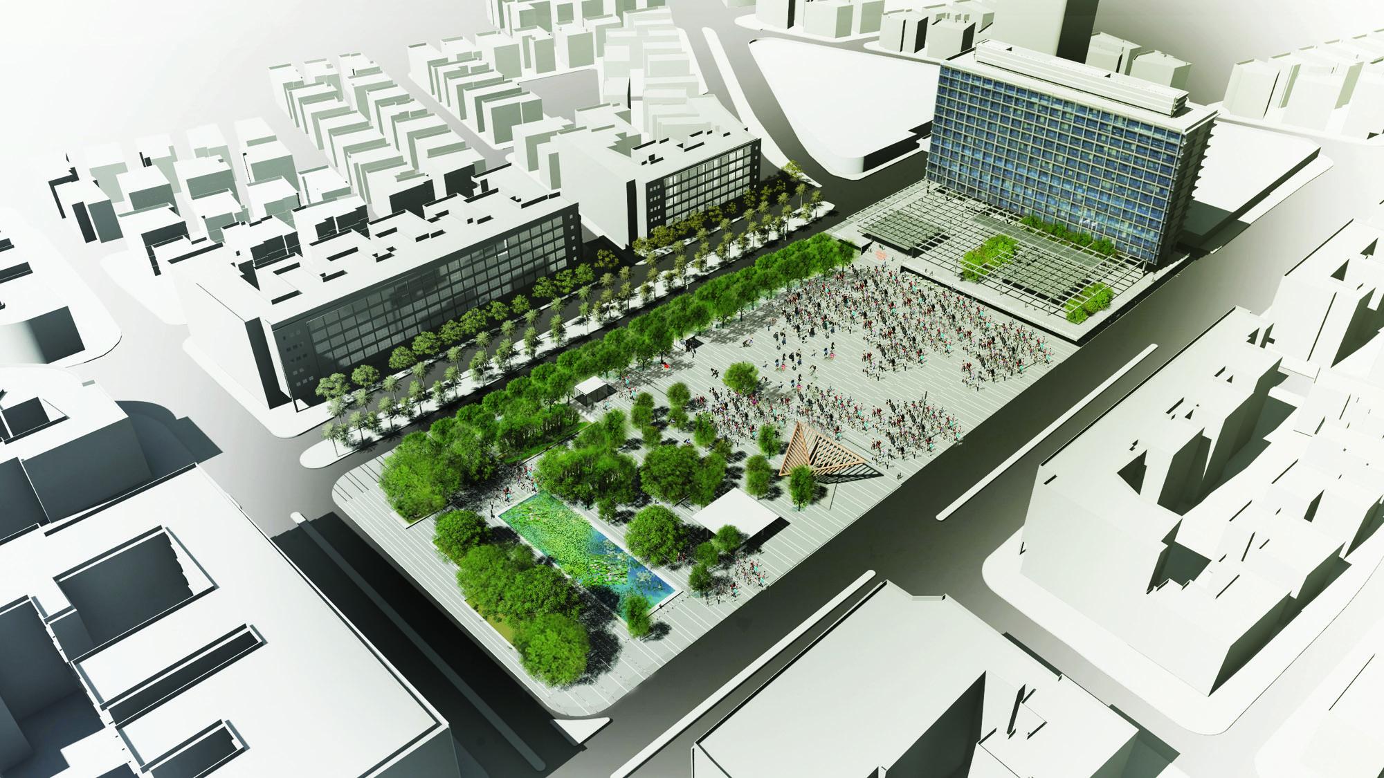 ההצעה של ת.מ.א תכנון מרחב אורבני (הדמיה: באדיבות המשרד)