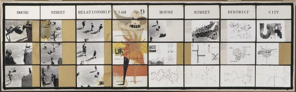 דימויים של ילדים אינם נפוצים בהצגות אדריכליות, התמונה שהוציאה את קוזולבסקי למסע המחקר (A&P Smithson, Urban Reidentification Grille, CIAM 1953)