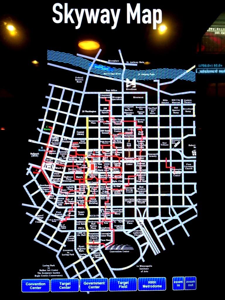 מפת הSky System (צילום: כרמל חנני)