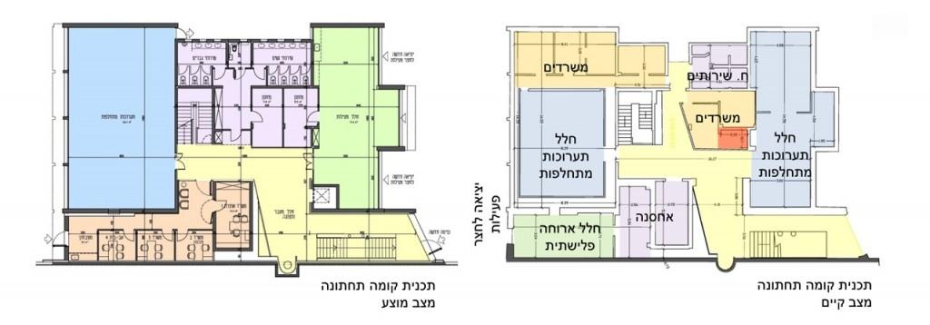 תוכנית חידוש מוזיאון הפלישתים של גיל מיניסטר אדריכלים, באדיבות המשרד