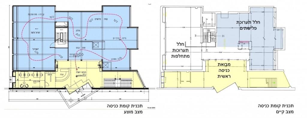תוכנית חידוש מוזיאון הפלישתים של גיל מיניסטר אדריכלים אשר נעשה בשנת 2014 באדיבות המשרד