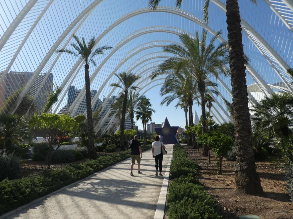 הגן בוטני ממקומם בטיילת מוגבהת מול בניין השלד, מכיל זנים רבים ונדירים (צילום: המעבדה לעיצוב עירוני)