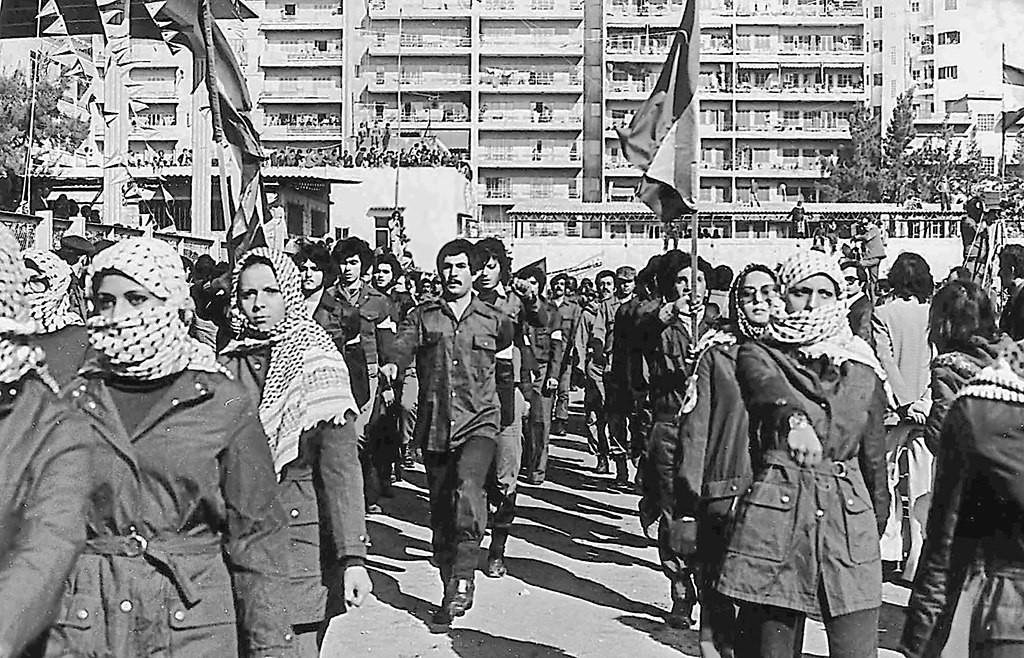 """צעדה בבירות של םת""""ח 1979 (צילום: Wikimedia)"""