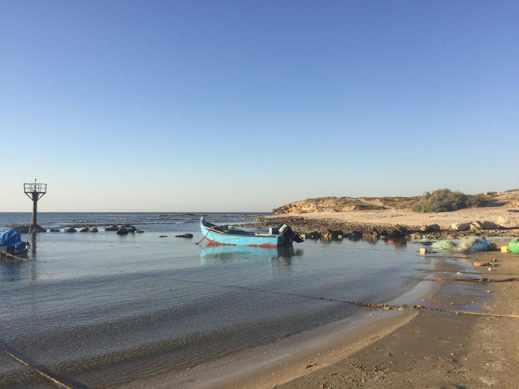 ג׳סר א-זרקא – מבט אל החוף (צילום: צוות הקורס)