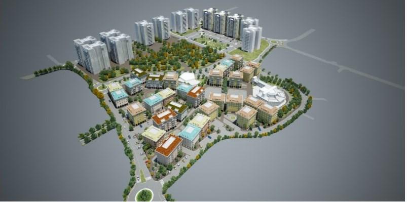 צילום מסך הדמיית המתחם בלה לוגאנו משרד האדריכלים רוזיו-תשבי