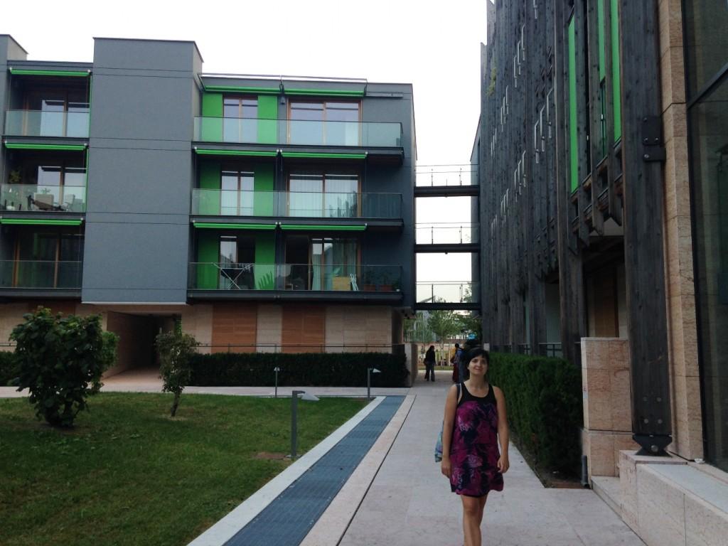 החצרות הפנימיות בין הבניינים (צילום: טלי חתוקה)