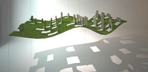 'רעבתנות' - מיצב המבטא את הדילול המתמשך במשאבי הסביבה ואת הריק הנותר לאחר התכלותם (הוצג בחלל המבואה של עיריית מודיעין, קנפו כלימור אדריכלים)