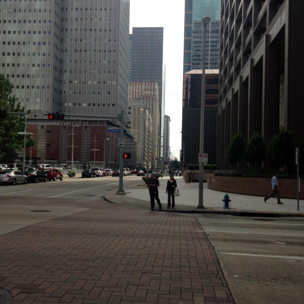 היכן נמצאים כל האנשים העובדים באזור? מרכז העסקים של יוסטון, טקסס (צילום: המעבדה לעיצוב עירוני)