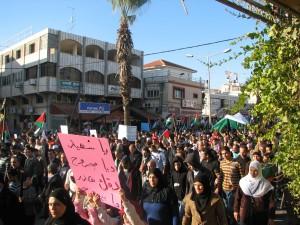 הפגנה בבקה אל גרביה, ישראל, 2009 (צילום: טלי חתוקה)