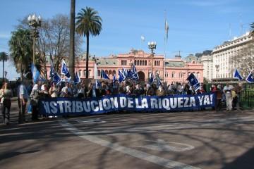 הפגנה בבואנוס איירס, ארגנטינה (צילום: טלי חתוקה)