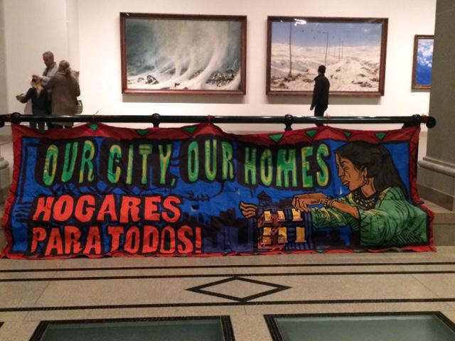 השבת הראשונה של 2016 היתה בסימן מחאה עירונית. מוזיאון ברוקלין (צילום: ארז צפדיה)