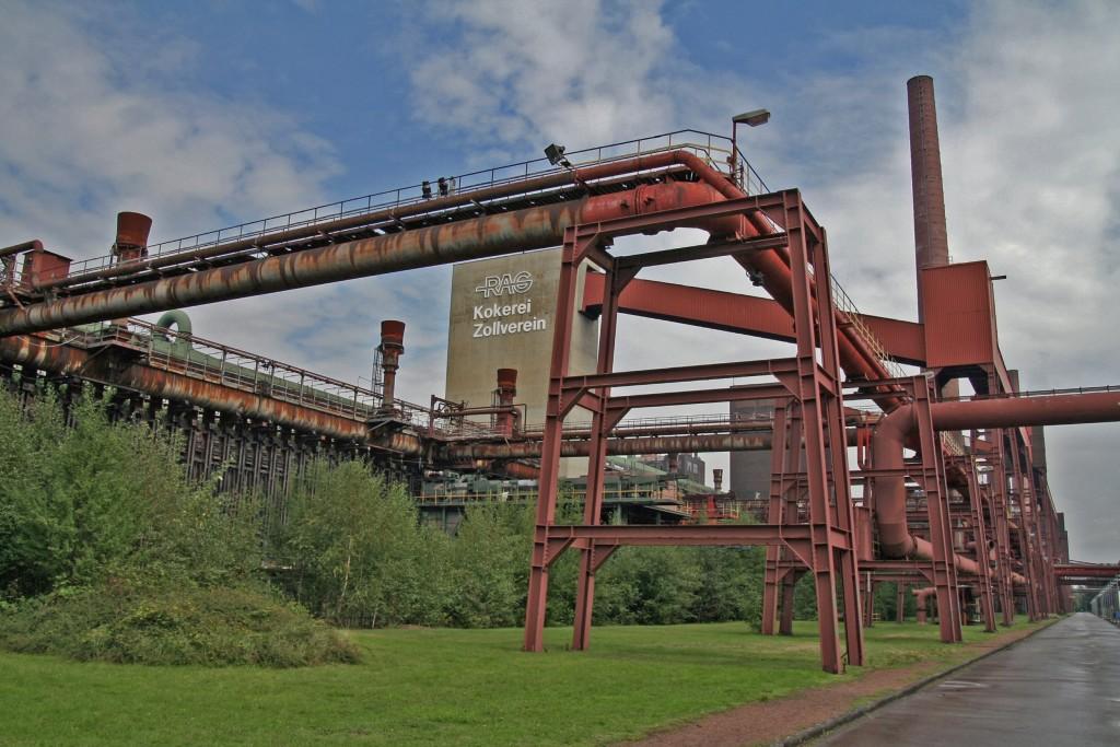 Zollverein הוכרז כאתר מורשת עלמי של אונסקו בשל היותו עדות חומרית יוצאת דופן להתפתחות והשקיעה של התעשייה במאה העשרים ואחת (צילום: Wikimedia)