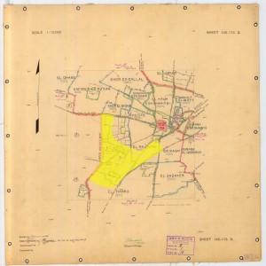 מפה משנת 1928 המראה את איזור התעשיה יחסית לכפר הערבי כפר-סבא