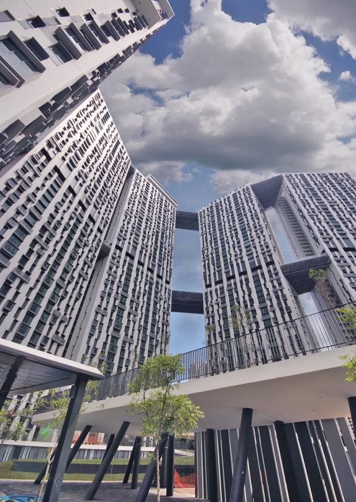 פרויקט דיור ציבורי בסינגפור (צילום: William Cho, Flickr.com)