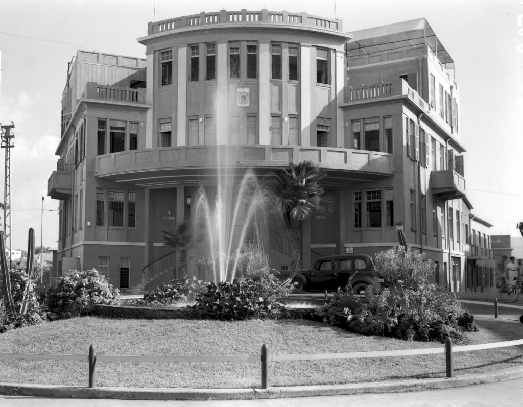 בניין העיירייה 1938 (צילום: KLUGER ZOLTAN, ארכיון לעם)
