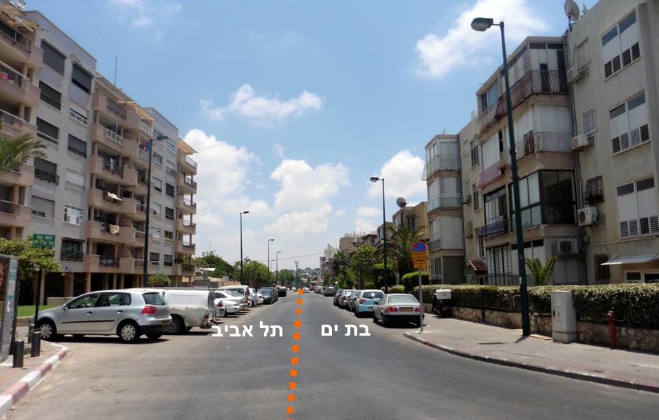 סביבת הגבול בין תל אביב לבת ים